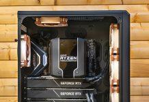 یک کامپیوتر خیره کننده با 4 کارت گرافیک GeForce RTX 2080 Ti!